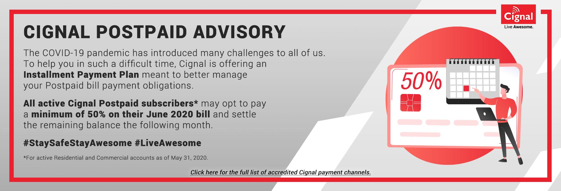 Cignal Postpaid Play Advisory
