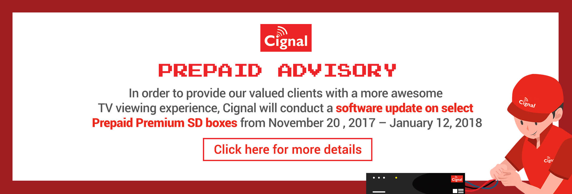 Prepaid Premium SD Box Software Update