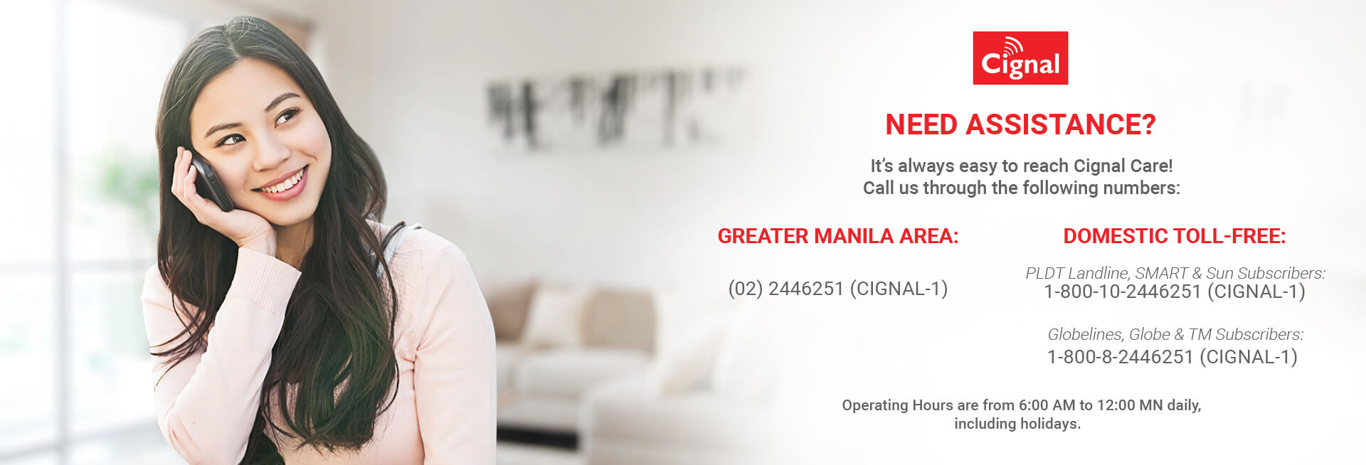 Cignal Care Hotlines