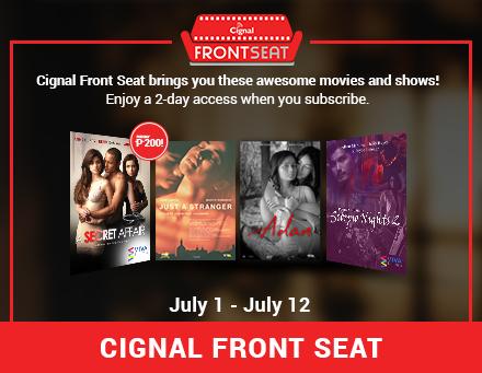 Cignal Front Seat 2020