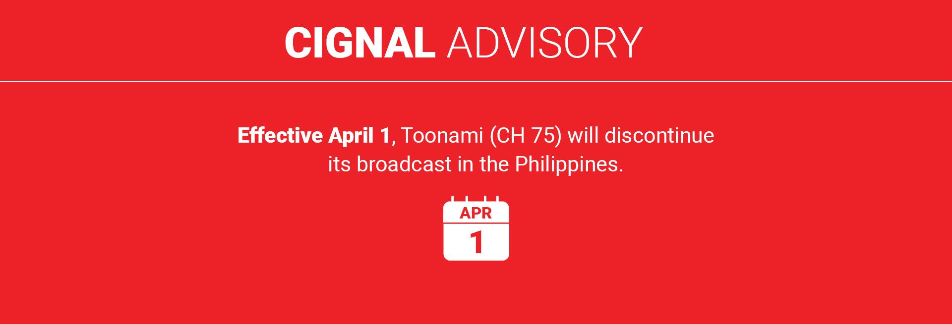Cignal Advisory Toonami