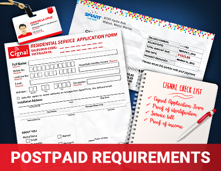 Postpaid Requirements