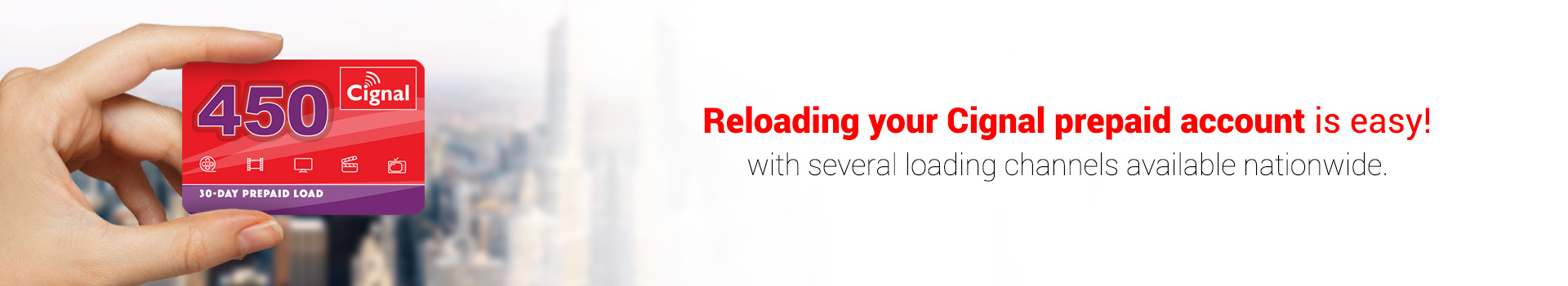 CIGNAL TV - Prepaid Loading Channels